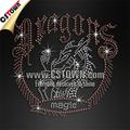 venta al por mayor de encargo de diamantes de imitación revisión dragon camiseta de transferencia de patrones