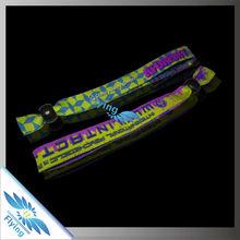 Promotion custom woven brand bracelets for event