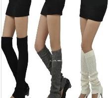 New 2014 Women's Fashion Thicken Knit Crochet Winter Leg Warmer Over The Knee Ball Socks 5 Colors Cheap 18920