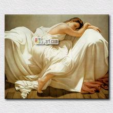 Hot selling wall art elegant lady painting