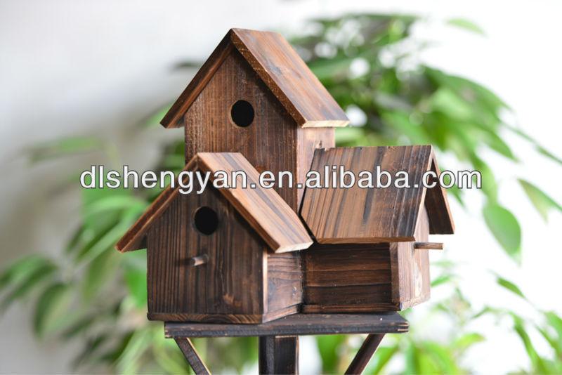 New Design Outdoor Decorative Wooden Bird House Bird