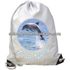 DOLPHIN PERSONALISED SUBLIMATION GYM / SWIMMING / DANCE BAG -GREAT NAMED GIFT