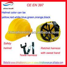 en397 safety helmet harness ratchet headband adjustment