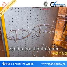 Wall mounted metal basketball display stand