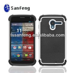 Hard Plastic+Silicone Ballistic Hybrid Case For Motorola X Phone