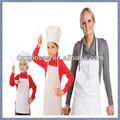 la madre y la hija del chef delantal y gorro
