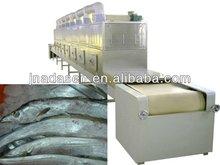 Industrial conveyor belt sardine fish microwave drying sterilizing/dryer sterilizer machine with CE