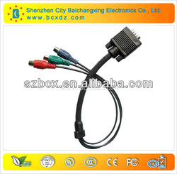 Gold plug vga rca male to male