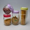 macarrão café doces cookie vasilha de vidro frascos plásticos tampas de vedação