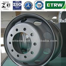 Inmetro 22.5x8.25 in acciaio resistente tubless cerchi ruote. Pneumatici 22,5 bus/camion/dumper(dot, tuv, inmetro, ISO/TS 16949)
