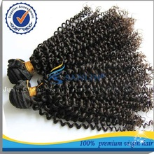 Latest goods 2014 alibaba best-selling 5a grade human virgin afro curl weave