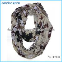 European polyester print twill snood scarf