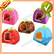 Lovely Doghouse Strawberry Yurt Style Dog Bed Pet House Cage
