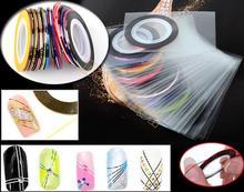 30Pcs/Set Mixed Colors Nail Rolls Striping Tape Line DIY Nail Art Tips Decoration Nail Sticker