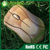 Wireless bamboo mouse - mini blue led wireless mouse