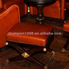 Leather folding ottoman in bar sofas