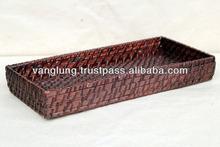 rattan pens/cards/rules basket/ bamboo/wicker basket