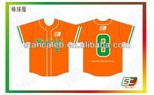 Custom Made Sublimation yellow mens Baseball Jerseys best sale baseball uniforms