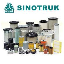 sinotruk caminhão peças de reposição do filtro de combustível do filtro de óleo elemento de filtro
