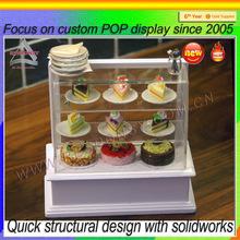 cake stand pop custom acrylic cake display cabinet
