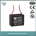 Cbb61 ventilador de teto capacitor com ul, ce, ccee, certificado tuv