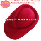 Hot sell/making ladies felt school uniform cap Red lana beret cap for woman100%wool felt wear for airline /railways/hotel