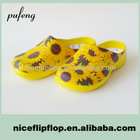 PF604-Flower popular cheap soft indoor slippers