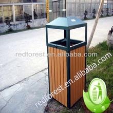 wood plastic composite ECO WPC outdoor dustbin