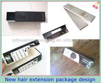 Custom elegant luxury hair extension packaging design