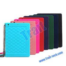 Classic Handbag Pattern Soft Silicone Case for iPad Mini 3 With Chain