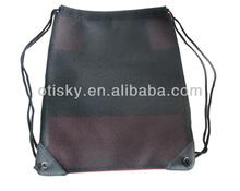 Small nylon mesh drawstring bag