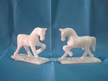 white marble horse stone sculpture