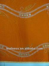 2014 new arrival african velvet lace, wholesale velvet lace LF3326 ORANGE