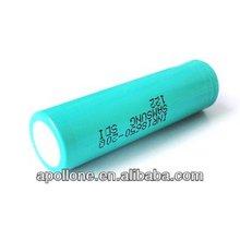 Flat top Samsung 18650 INR18650-20Q 2000mh (15A discharge)