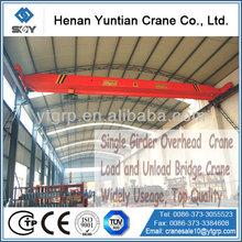 CE Certificated Single Beam Load And Unload Bridge Crane