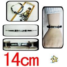 Japanese anime Shingeki no Kyojin Attack on Titan Wings Of Freedom Logo Black Wristband Fashion Gifts wholesale