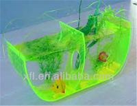 green fish tank cool two aquarium at one design