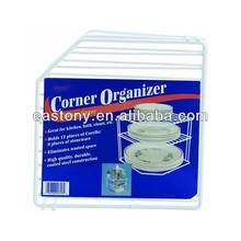 Corner Helper Shelf - White for Kitchen or Bath or Closet