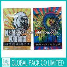 King kong potpourri bag 3g /king kong herbal incense potpourri for wholesale