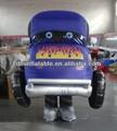 2014 caliente de la venta del coche inflable dibujos animados de disfraces