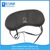 black satin gel fashion memory foam eye mask for traveling