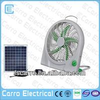 Portable AC DC solar rechargeable mini battery powered fan motors