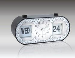 plastic auto flip calendar clock