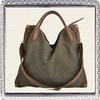 Canvas leather unisex handbags supplier