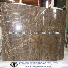 Golden brown marble and tiles slabs