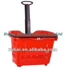 Single handle cute plastic shopping baskets(RHB-611)