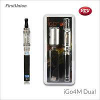 New electrical invention portable e hookah iGo4M dual electronic cigarette refills dual flavors e cigs uk