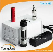 New design mechanical mod original tesla m5 batter than e cigarette cloutank m3 and electronic cigarette cloutank c1