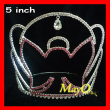 Wholesale customized pageant tiara, doll crown from china jewelry factory, bridal crown