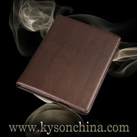 Stand brown leather case for apple ipad 4